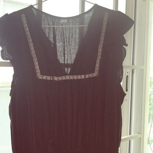 Dress with top embroidery